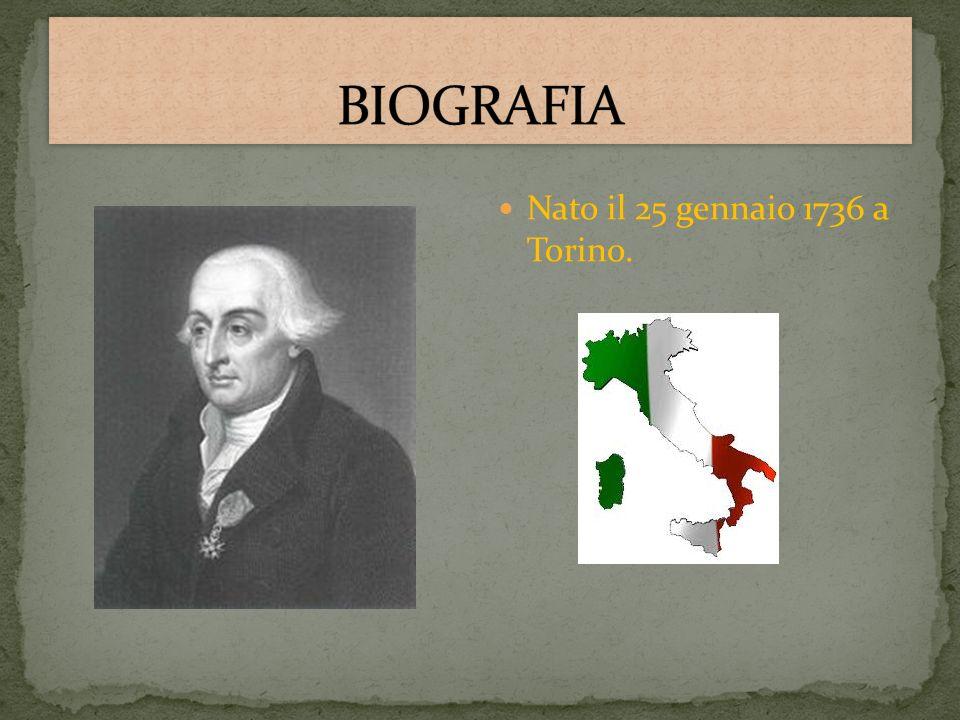 Nato il 25 gennaio 1736 a Torino.