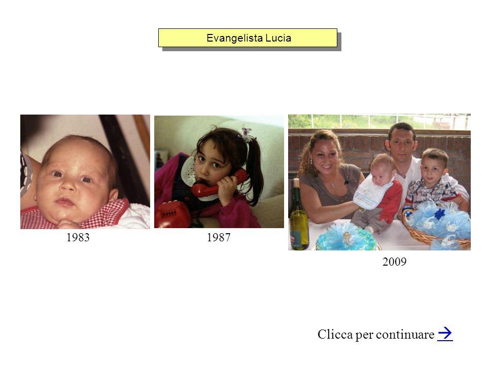 Evangelista Lucia Clicca per continuare 19831987 2009