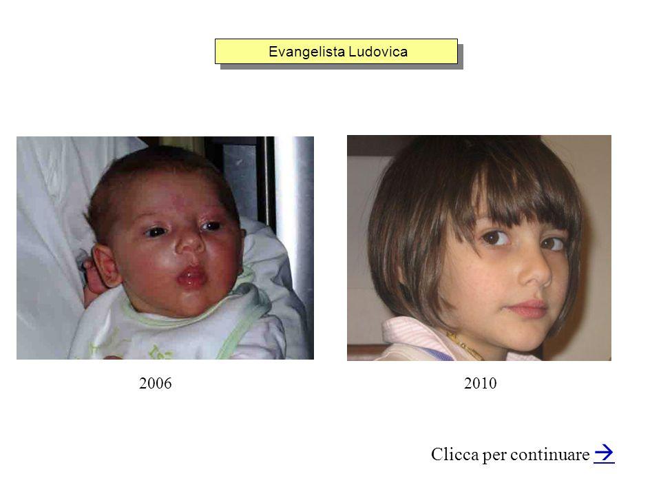 Evangelista Ludovica Clicca per continuare 20062010