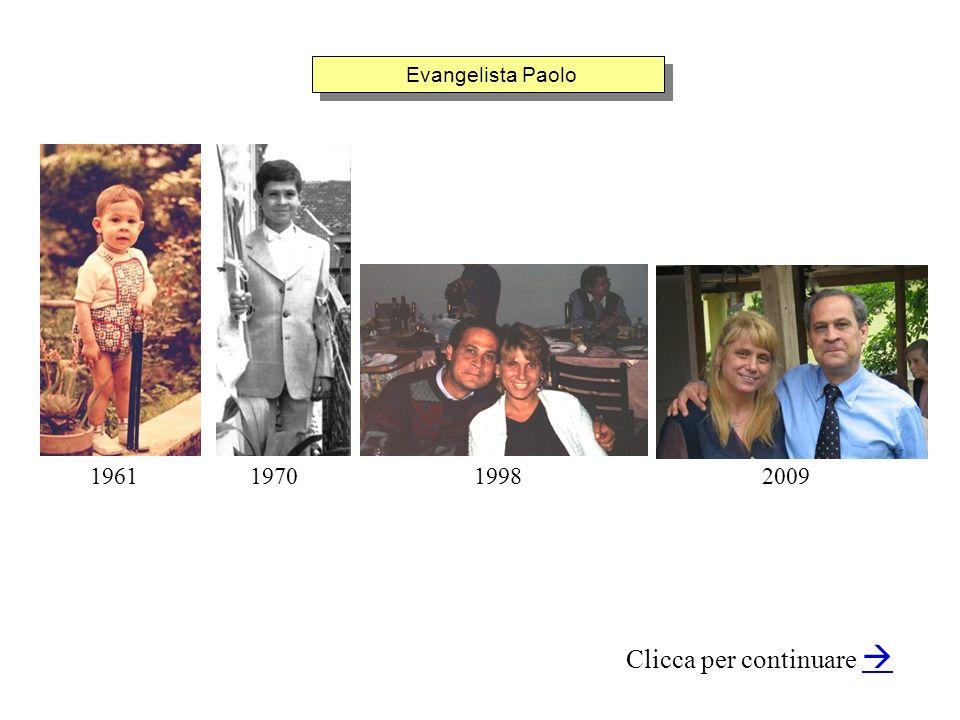 Evangelista Paolo Clicca per continuare 1998200919611970