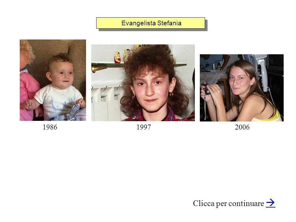 Evangelista Stefania Clicca per continuare 198620061997