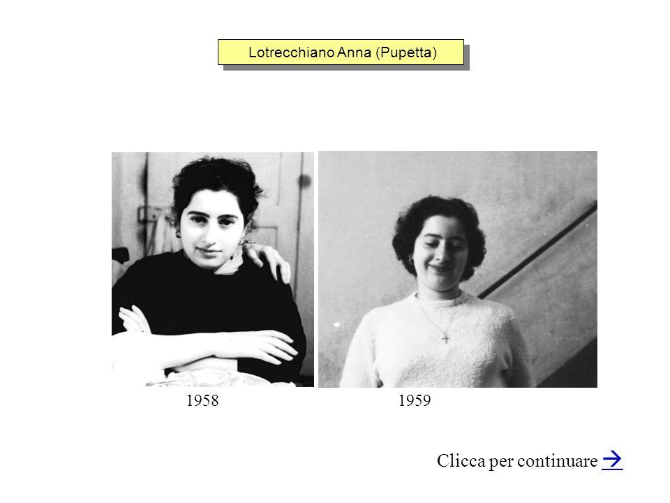 Lotrecchiano Anna (Pupetta) Clicca per continuare 19581959