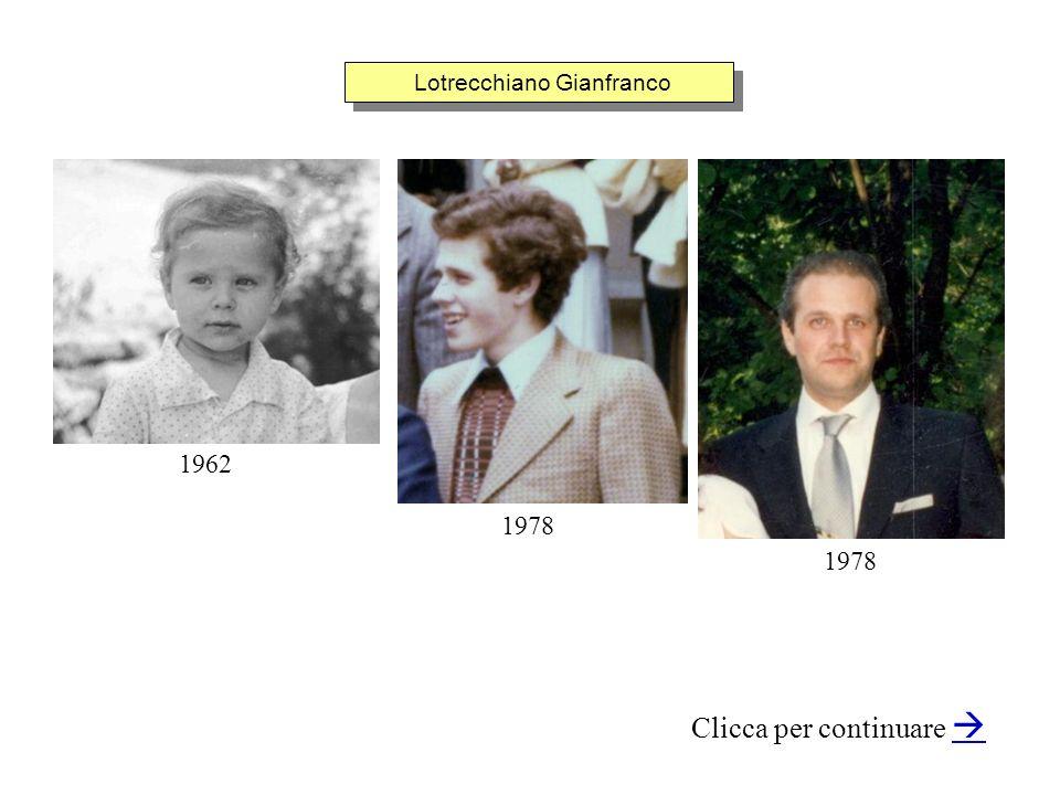 Lotrecchiano Gianfranco Clicca per continuare 1962 1978