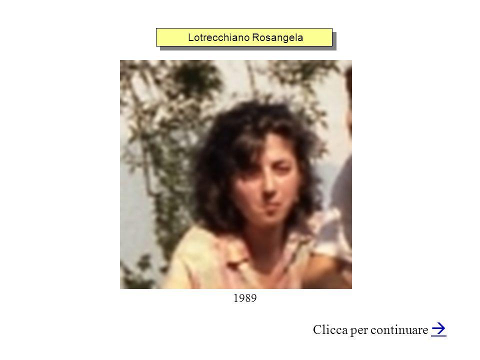 Lotrecchiano Rosangela Clicca per continuare 1989