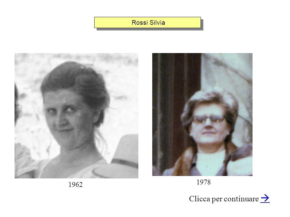 Rossi Silvia Clicca per continuare 1962 1978