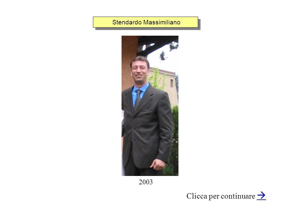 Stendardo Massimiliano Clicca per continuare 2003