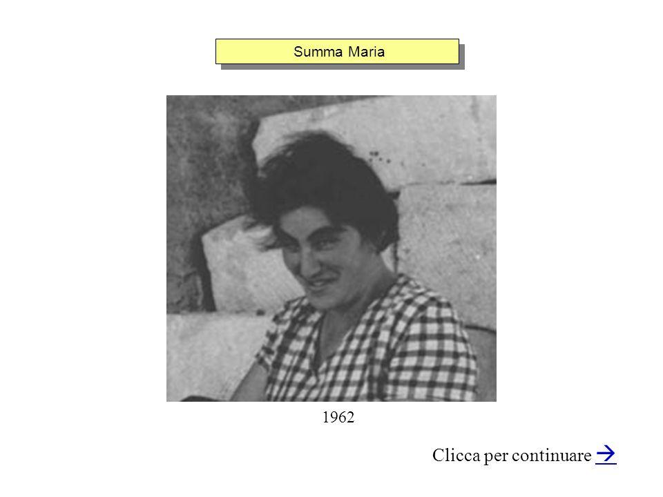 Summa Maria Clicca per continuare 1962