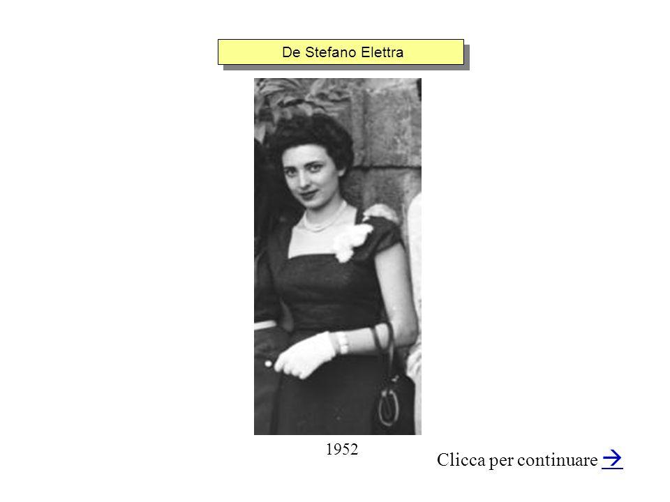 De Stefano Elettra Clicca per continuare 1952