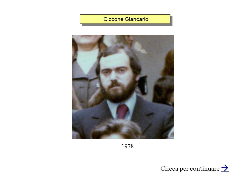 Ciccone Giancarlo Clicca per continuare 1978