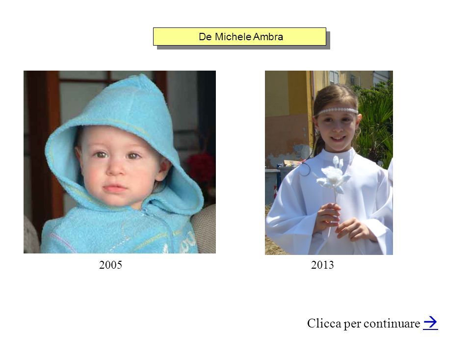 De Michele Ambra Clicca per continuare 20052013