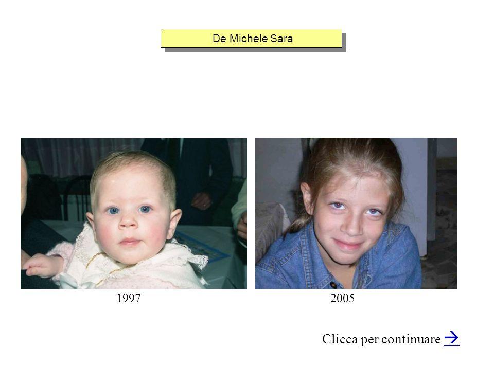 De Michele Sara Clicca per continuare 20051997