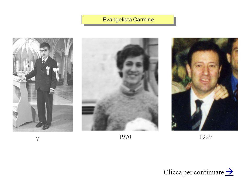 Evangelista Carmine Clicca per continuare 19991970 ?