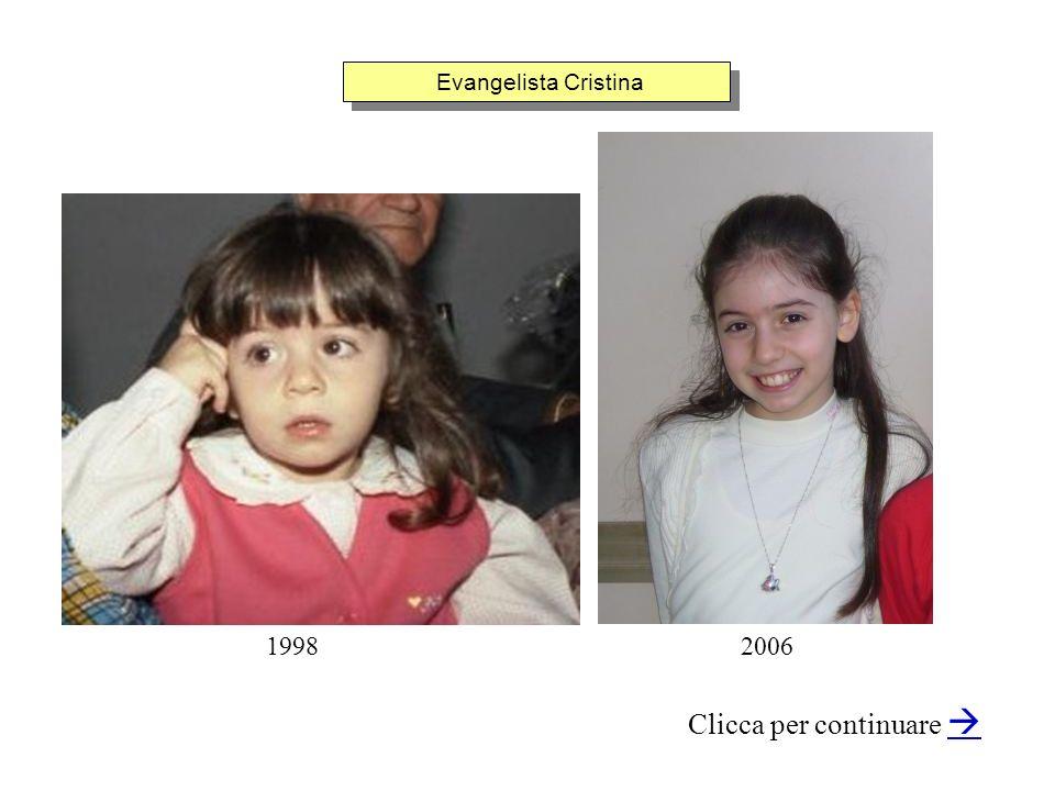 Evangelista Cristina Clicca per continuare 19982006