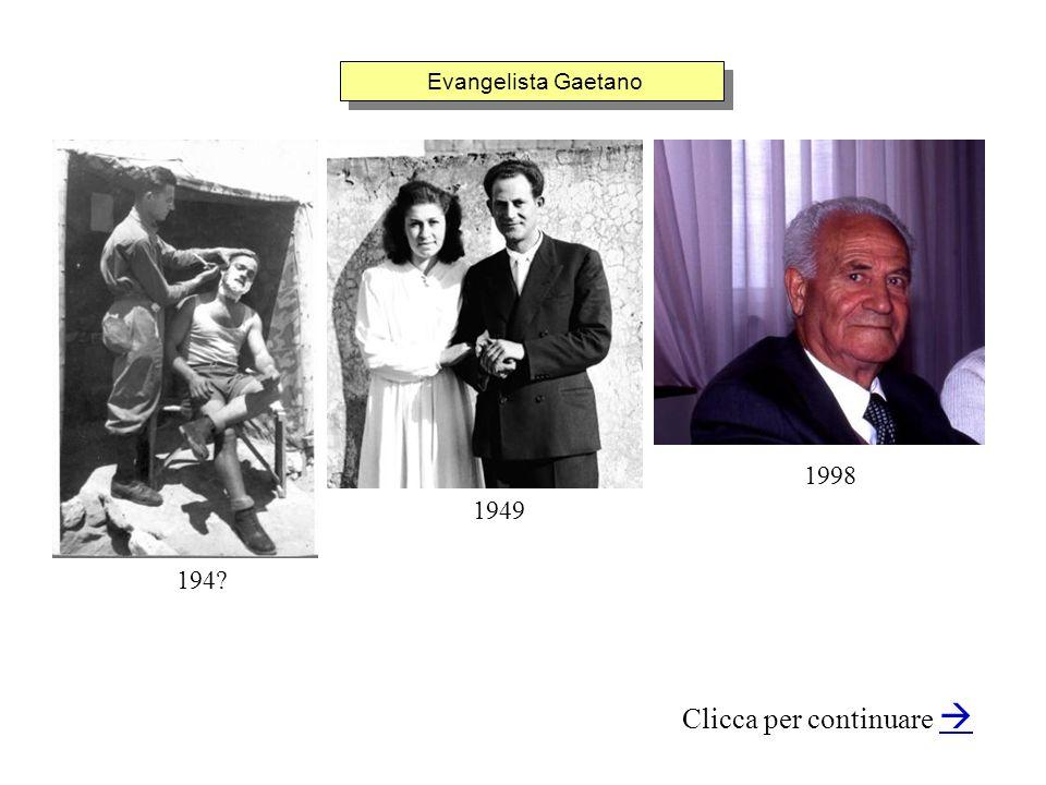Evangelista Gaetano Clicca per continuare 1949 1998 194?
