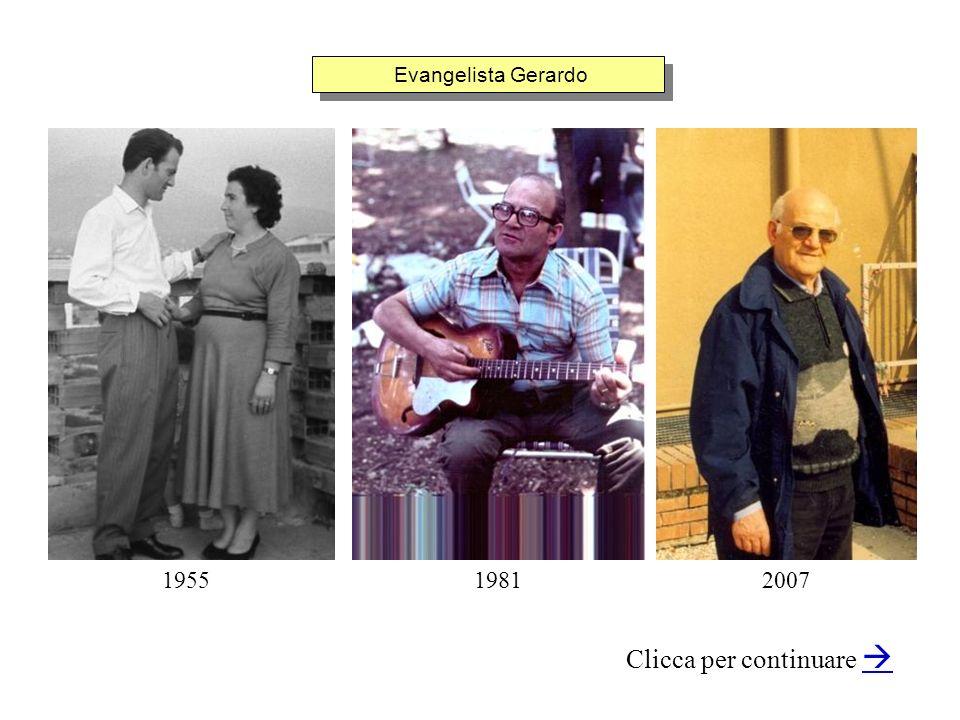 Evangelista Gerardo Clicca per continuare 195519812007
