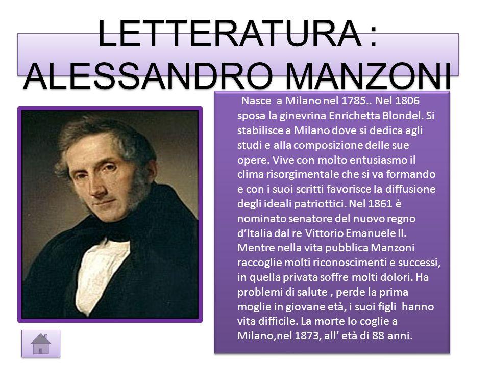 Nasce a Milano nel 1785..Nel 1806 sposa la ginevrina Enrichetta Blondel.