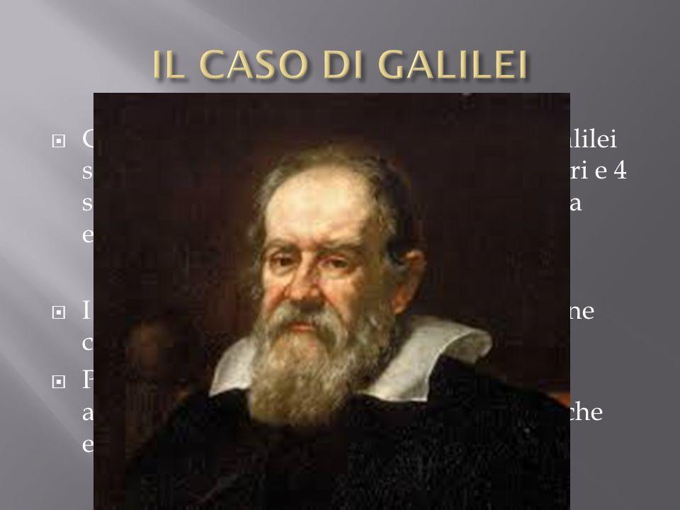 Con laiuto di un cannocchiale Galileo Galilei scoprì le macchie solari, le montagne lunari e 4 satelliti di Giove; inoltre appoggiò la teoria eliocent
