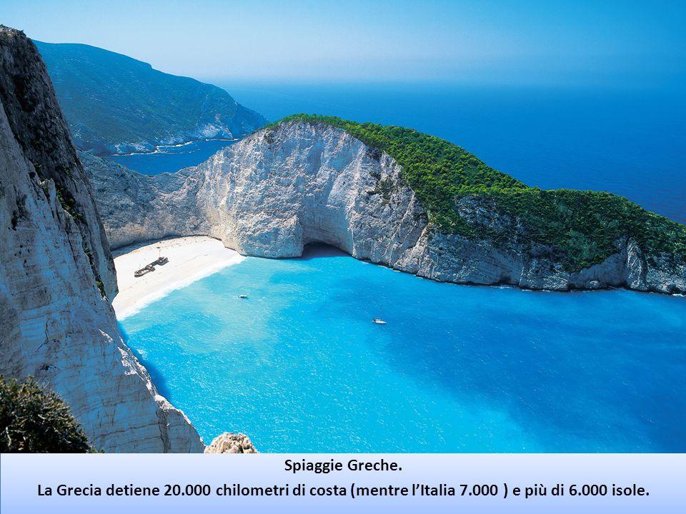 Spiaggie Greche. La Grecia detiene 20.000 chilometri di costa (mentre lItalia 7.000 ) e più di 6.000 isole. Spiaggie Greche. La Grecia detiene 20.000