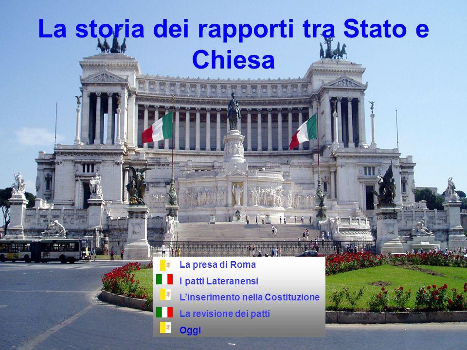 La storia dei rapporti tra Stato e Chiesa La presa di Roma I patti Lateranensi Linserimento nella Costituzione La revisione dei patti Oggi