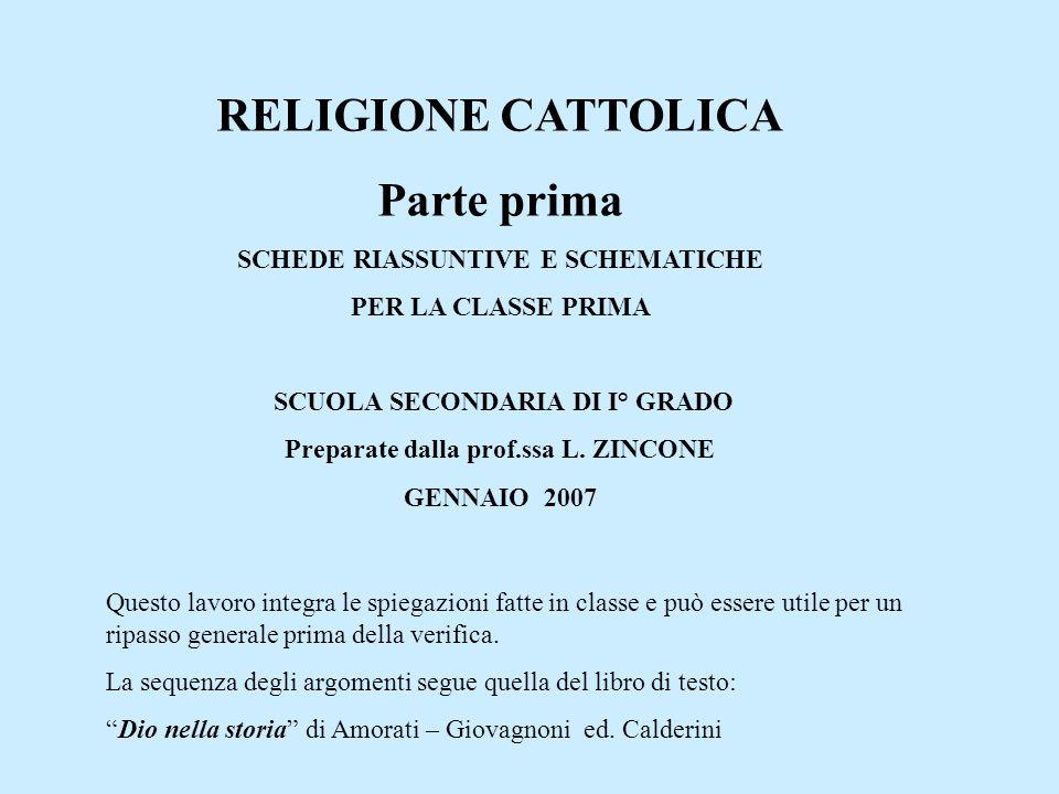 I.R.C. INSEGNAMENTO DELLA RELIGIONE CATTOLICA E UNA MATERIA SCO- LASTICA COME TUTTE LE ALTRE.