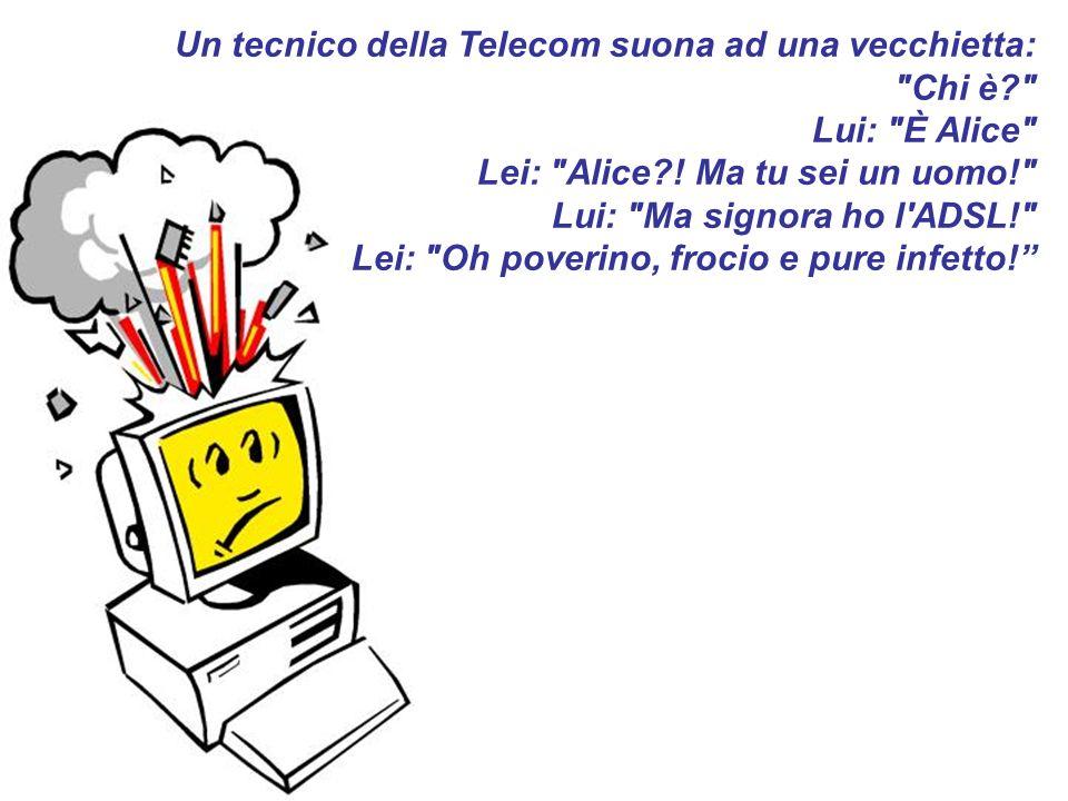 Un tecnico della Telecom suona ad una vecchietta:
