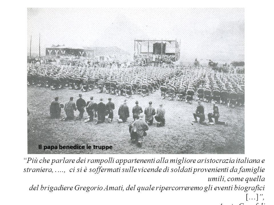 Il papa benedice le truppe Più che parlare dei rampolli appartenenti alla migliore aristocrazia italiana e straniera,.…, ci si è soffermati sulle vice
