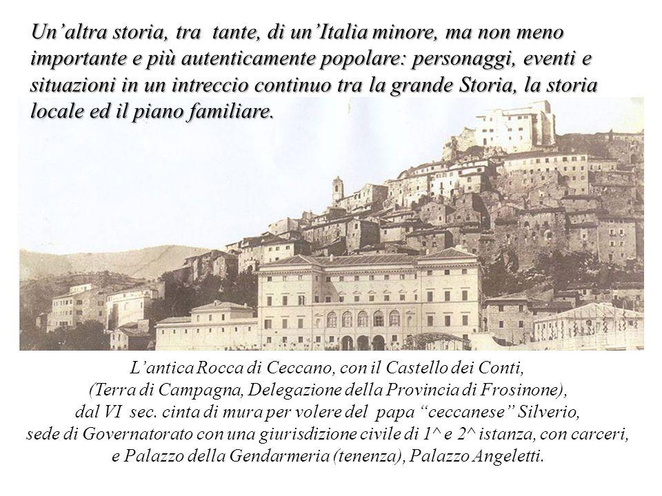 Sullo sfondo la lenta agonia dello Stato Pontificio e le vicende familiari di un fedele servitore del Santo Padre Dal sec.