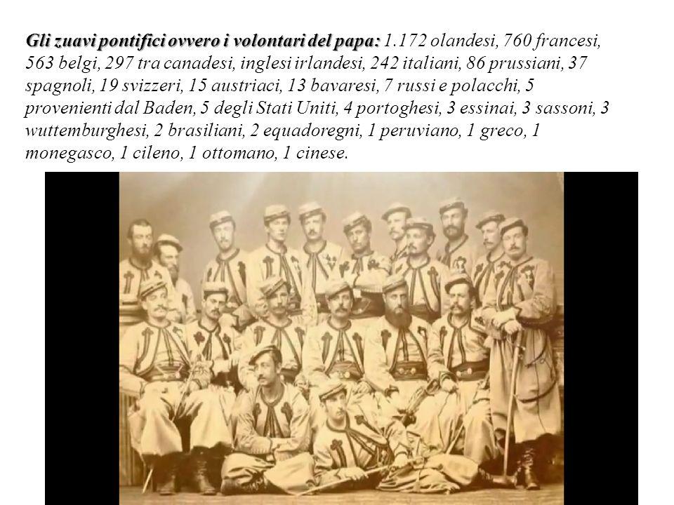 Gli zuavi pontifici ovvero i volontari del papa: Gli zuavi pontifici ovvero i volontari del papa: 1.172 olandesi, 760 francesi, 563 belgi, 297 tra can