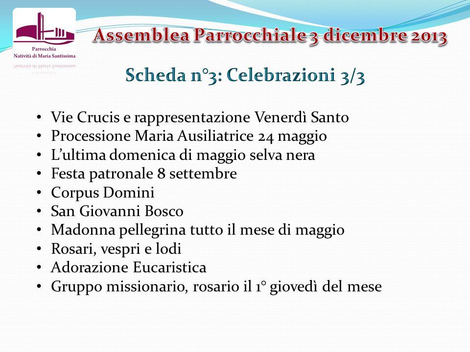 Vie Crucis e rappresentazione Venerdì Santo Processione Maria Ausiliatrice 24 maggio Lultima domenica di maggio selva nera Festa patronale 8 settembre