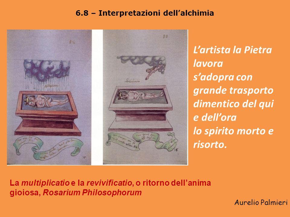 Aurelio Palmieri 6.7 – Il compimento dellopus: lalbedo e la rubedo La fermentatio filosofica e lilluminatio (il Sole che nasce dal bagno mercuriale),