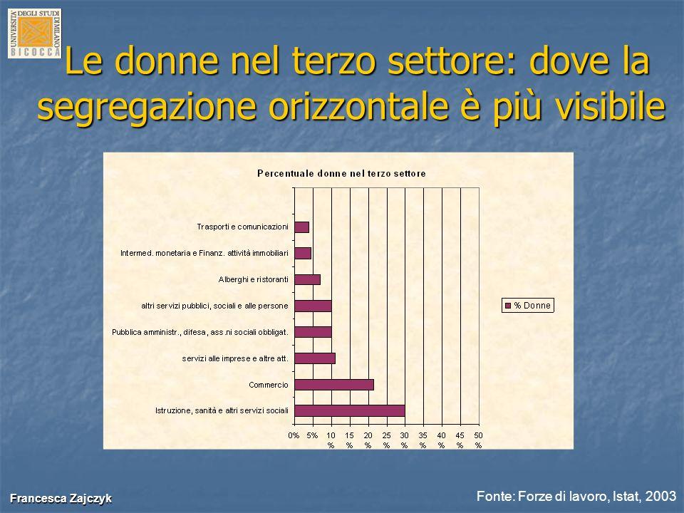 Francesca Zajczyk Francesca Zajczyk Le donne nel terzo settore: dove la segregazione orizzontale è più visibile Le donne nel terzo settore: dove la se