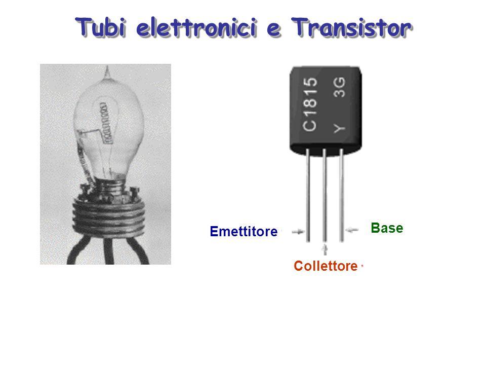 Tubi elettronici e Transistor Emettitore Collettore Base