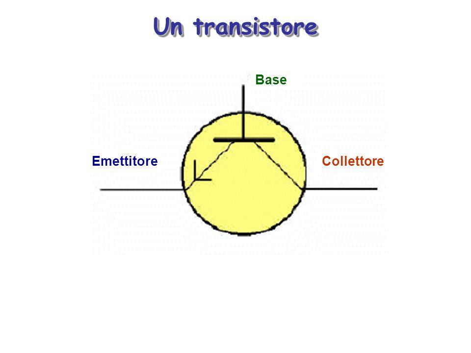 Un transistore Base CollettoreEmettitore