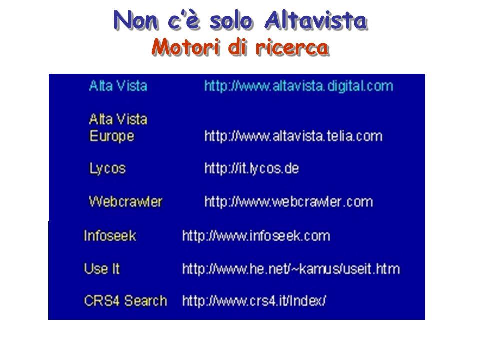Non cè solo Altavista Motori di ricerca Non cè solo Altavista Motori di ricerca