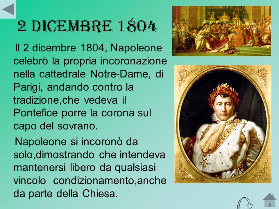 IMPERATORE DEI FRANCESI Nel 1804 il governo inglese appoggiò la congiura dei Realisti per rovesciare il consolato.