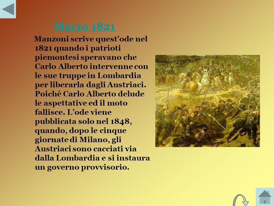 Il cinque Maggio Il Cinque maggio 1821 Napoleone muore a SantElena.