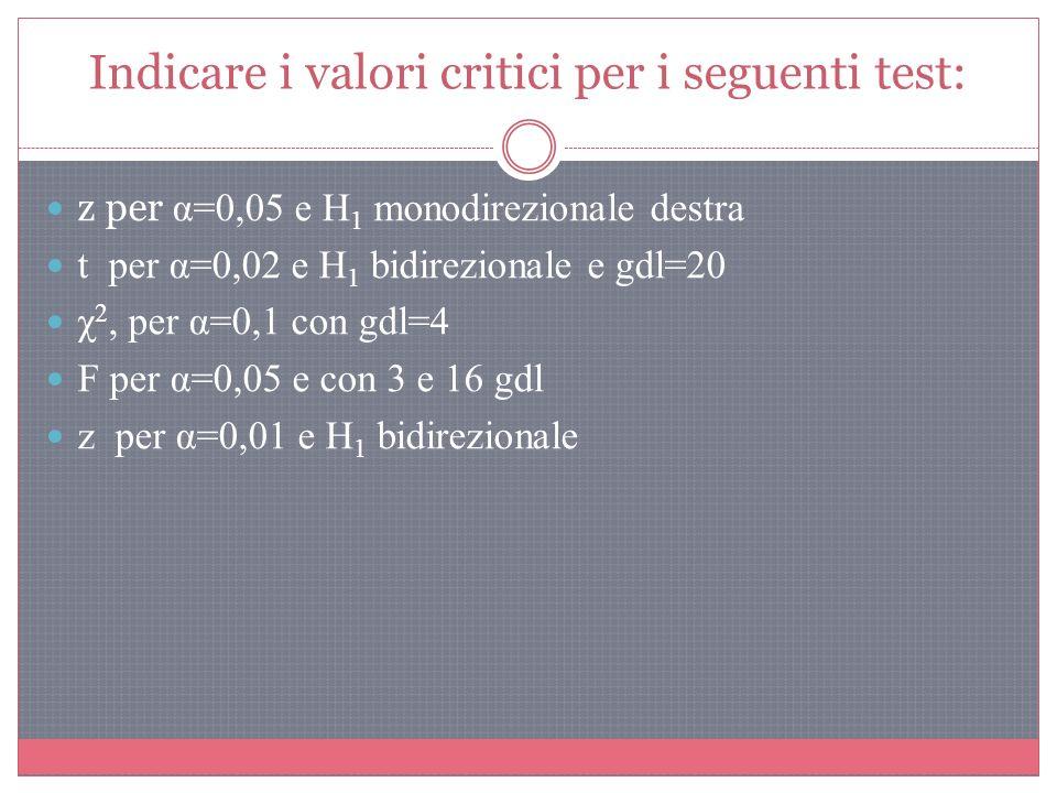 2. Calcoliamo il valore dello z critico 0,5 - 0,01 = 0,49 z critico = ± 2,33