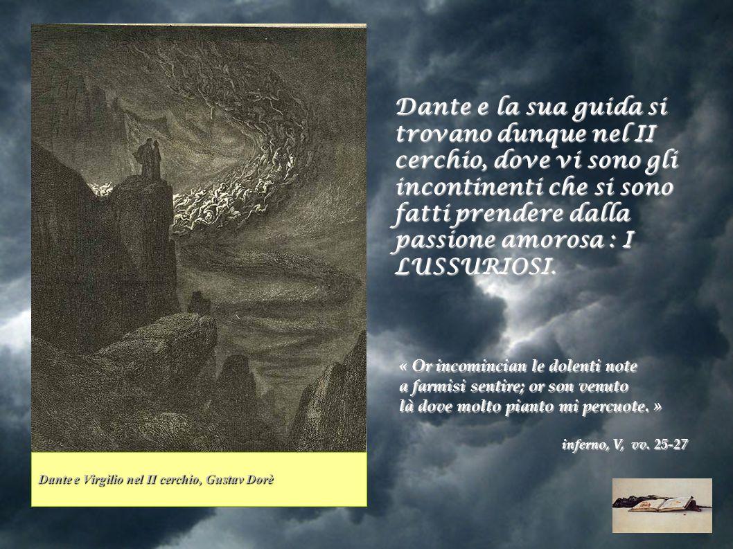 Per descrivere i lussurosi Dante inserisce due similitudini legate al mondo degli uccelli: E come li stornei ne portan l ali nel freddo tempo, a schiera larga e piena, così quel fiato li spiriti mali di qua, di là, di giù, di sù li mena..