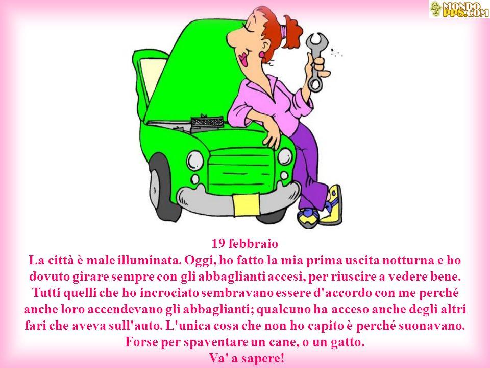 10 febbraio Gli altri automobilisti hanno delle abitudini bizzarre.