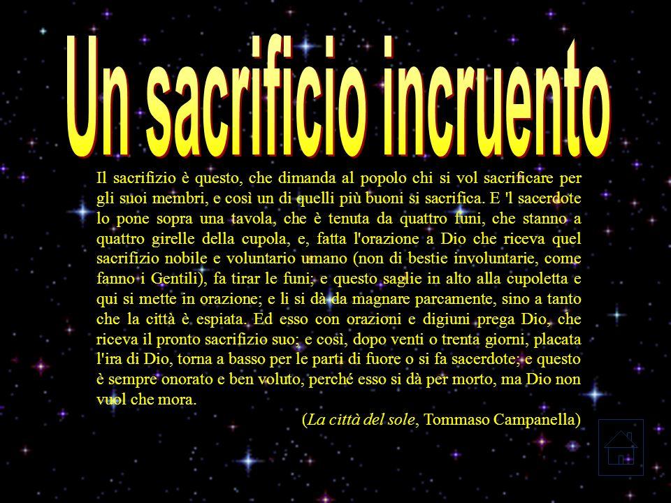 Sommo sacerdote è il Sole; e tutti gli offiziali son sacerdoti, parlando delli capi, ed offizio loro è purgar le conscienze.