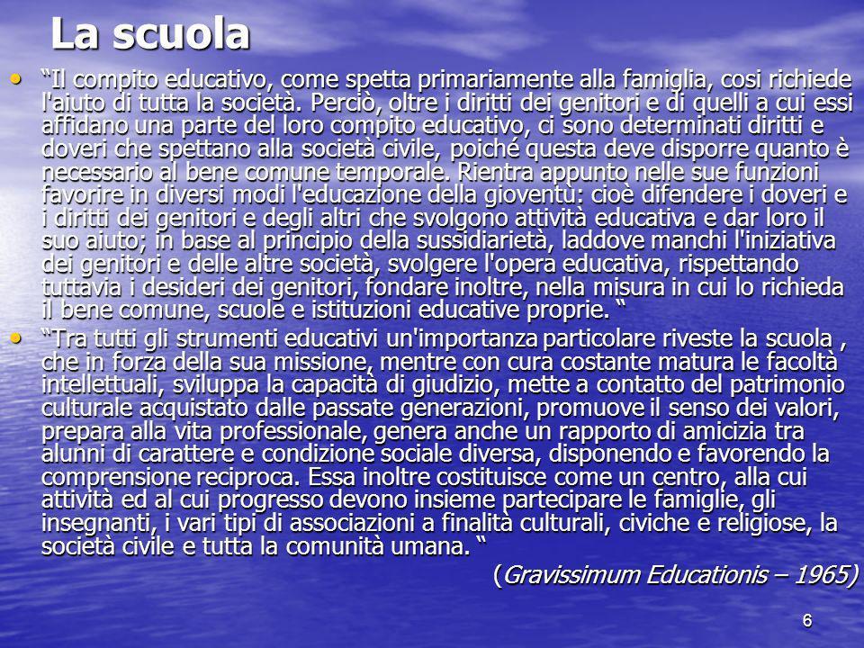 7 L A.Ge.S.C.(fonte: www.agesc.it) LAssociazione Genitori Scuole Cattoliche è sorta nel 1975.