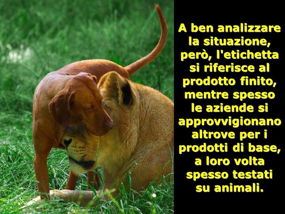 Presso la L. A. V. (Lega Anti Vivisezione, via Santa-maura 72, 00192 Roma) è disponibile una lista delle marche che definiscono non testati su animali