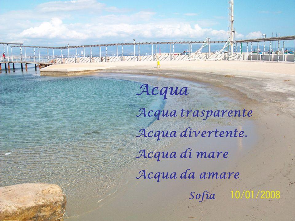 Acqua Acqua trasparente Acqua divertente. Acqua di mare Acqua da amare Sofia