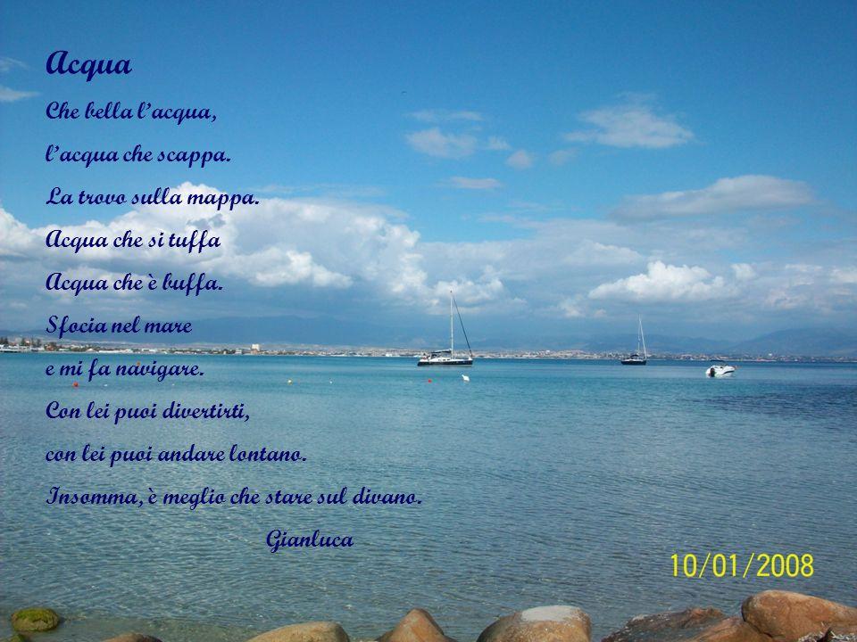 Goccia Goccia cristallina Goccia piccolina Goccia musicale Goccia che scorre in mezzo al mare Sofia Carravetta