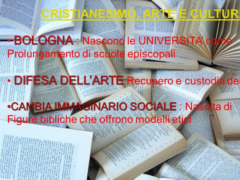 CRISTIANESIMO, ARTE E CULTURA