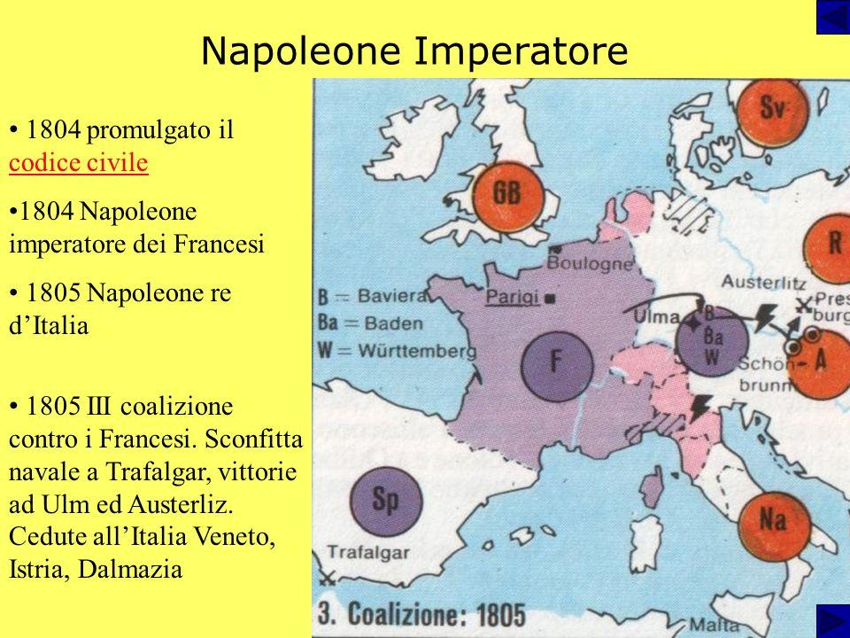 Napoleone console a vita 1799 Costituzione dellanno VIII, Napoleone I console Giugno 1800: vittoria di Marengo 1801 Pace: Piemonte annesso alla Franci