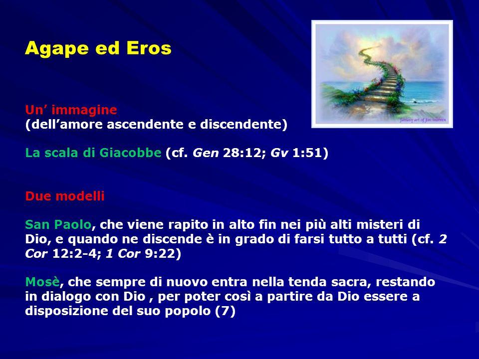 Un immagine (dellamore ascendente e discendente) La scala di Giacobbe (cf. Gen 28:12; Gv 1:51) Due modelli San Paolo, che viene rapito in alto fin nei