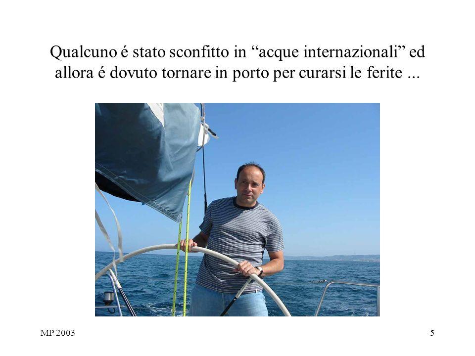 MP 20035 Qualcuno é stato sconfitto in acque internazionali ed allora é dovuto tornare in porto per curarsi le ferite...