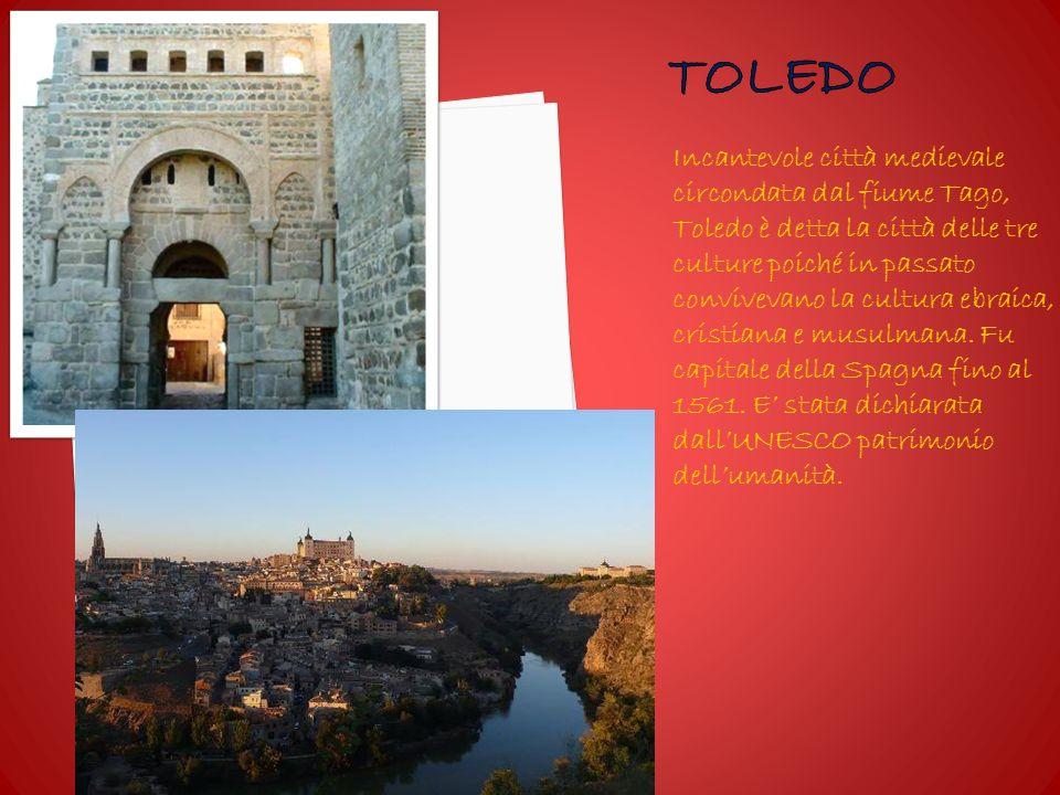 Incantevole città medievale circondata dal fiume Tago, Toledo è detta la città delle tre culture poiché in passato convivevano la cultura ebraica, cristiana e musulmana.