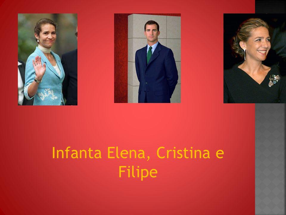 Infanta Elena, Cristina e Filipe